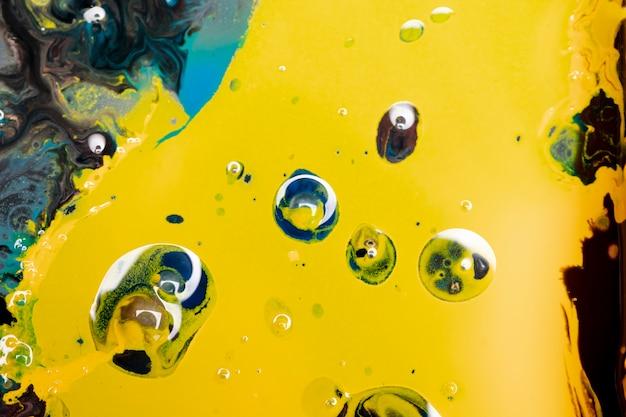 Bolas de água acrílica abstrata