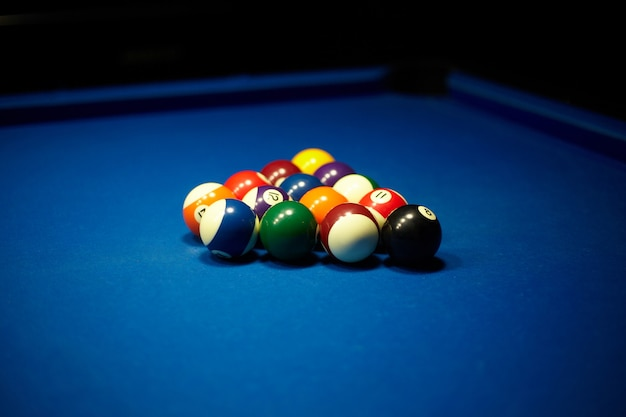 Bolas de bilhar - piscina