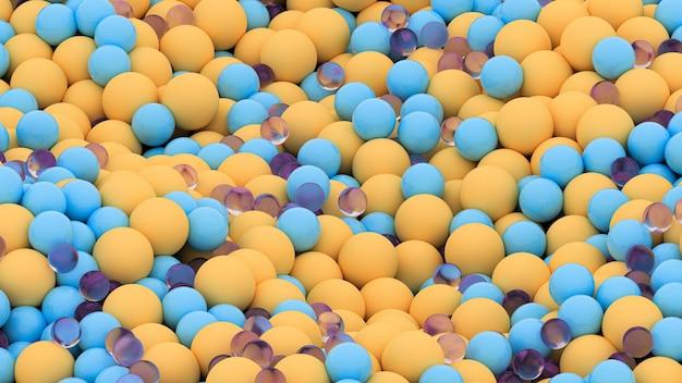 Bolas de diferentes cores e tamanhos