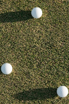 Bolas de golfe com espaço para texto
