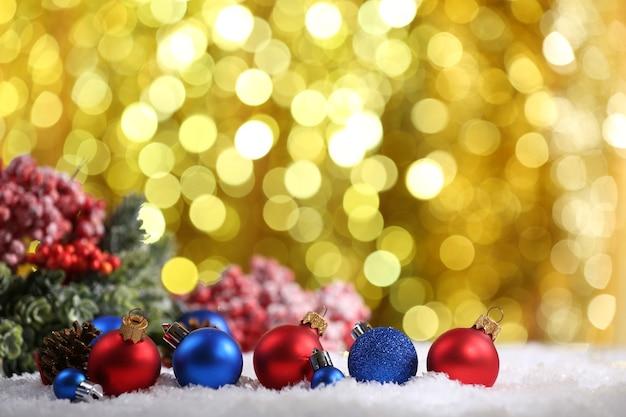 Bolas de natal com brilho