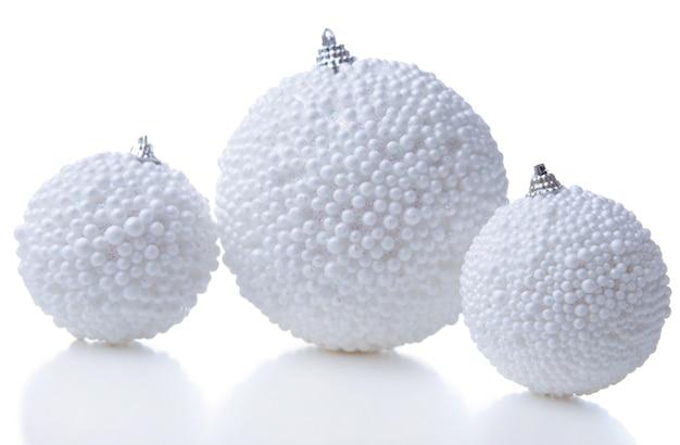 Bolas de natal, isoladas em branco