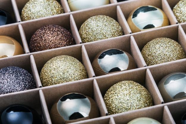 Bolas de vidro para a árvore de natal