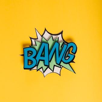 Bolha de discurso vintage bang em estilo pop art