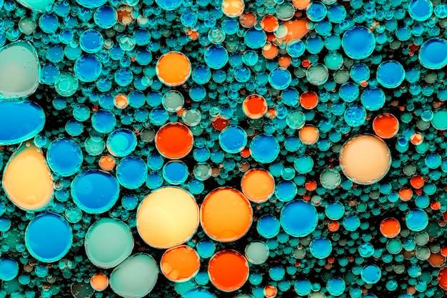 Bolha de óleo colorida de fundo abstrato em papel de parede de água