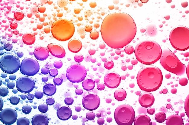 Bolha de óleo gradiente de fundo abstrato em papel de parede de água