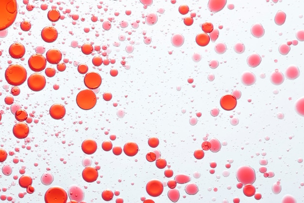 Bolha de óleo vermelho abstrato em papel de parede de água