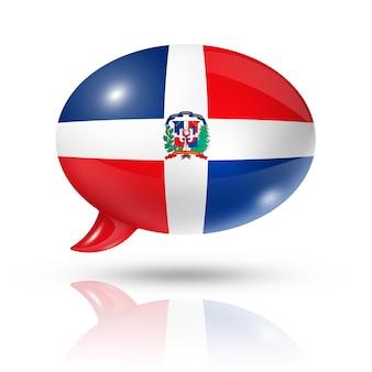 Bolha do discurso de bandeira da república dominicana