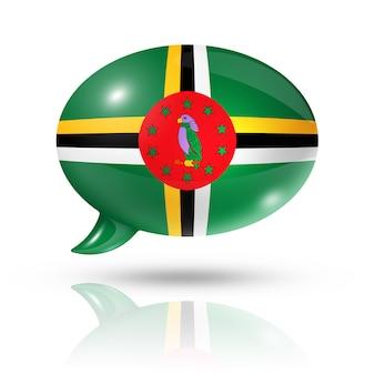 Bolha do discurso de bandeira dominicana