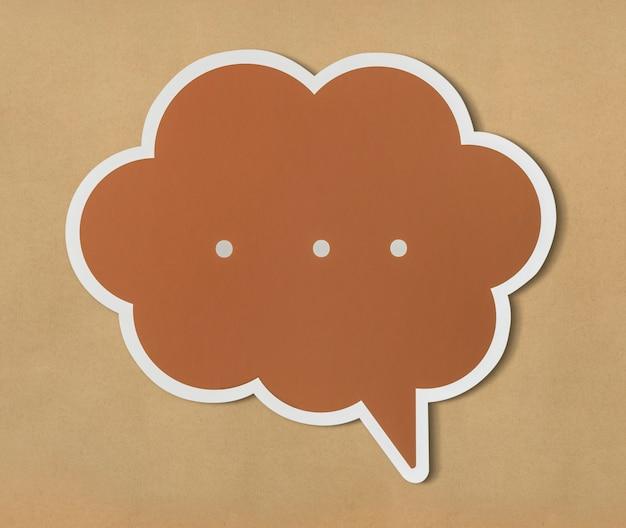 Bolha do discurso de conversa cortada ícone