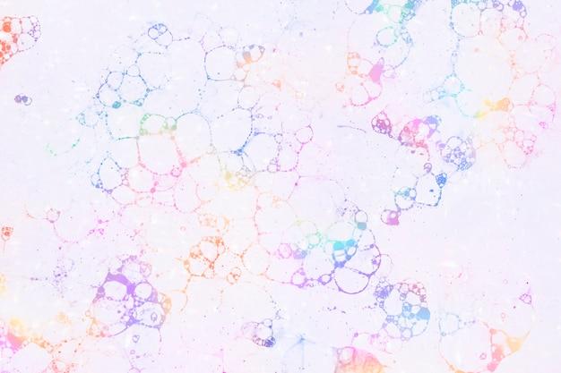Bolhas coloridas com fundo rosa estilo feminino