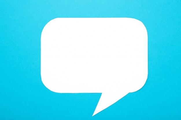 Bolhas do discurso do livro branco sobre fundo azul