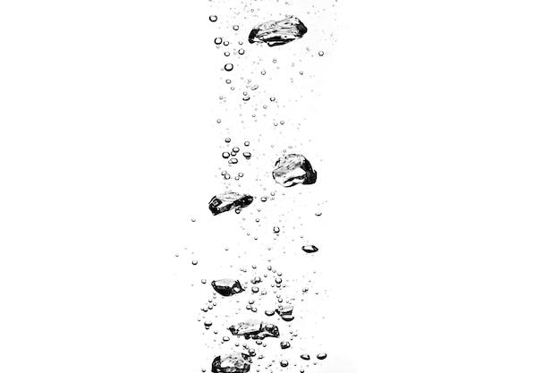 Bolhas na água fresca