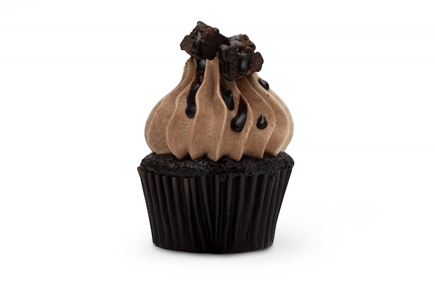 Bolinho chocolated isolado no fundo branco
