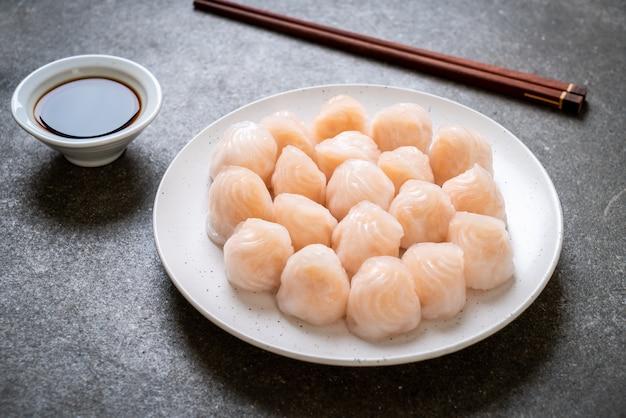 Bolinho de camarão cozido no vapor chinês