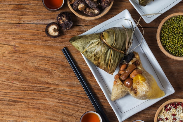 Bolinhos de arroz dragon boat festival