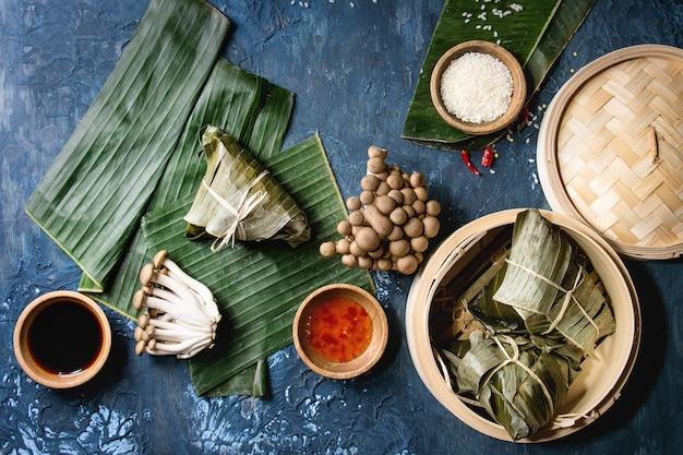 Bolinhos de arroz piramidal