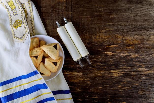 Bolinhos de hamantaschen para feriado judaico purim
