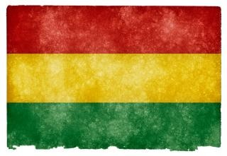 Bolivia bandeira do grunge sujo