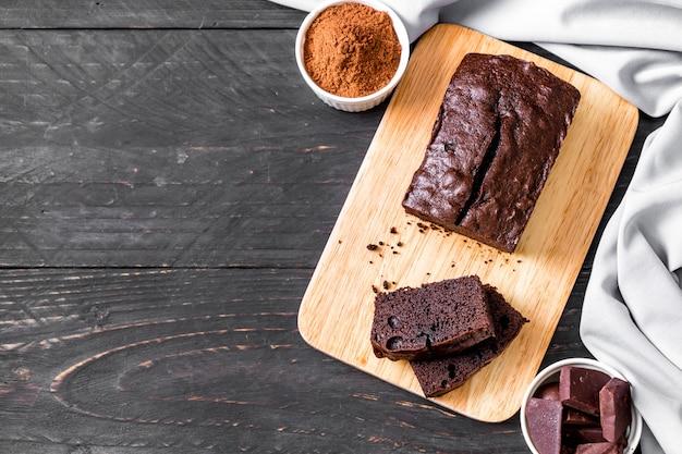 Bolo de brownie de chocolate