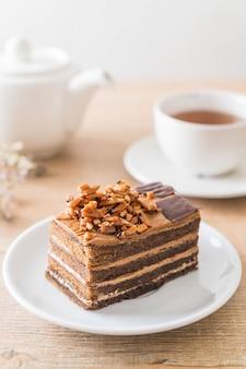Bolo de café com caramelo
