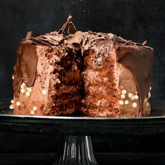 Bolo de chocolate de close-up