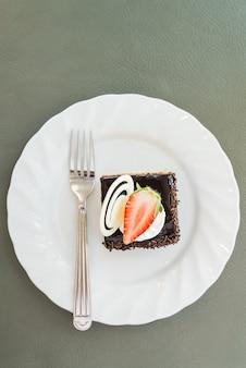 Bolo de chocolate de sobremesa