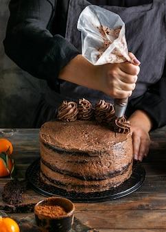 Bolo de chocolate delicioso