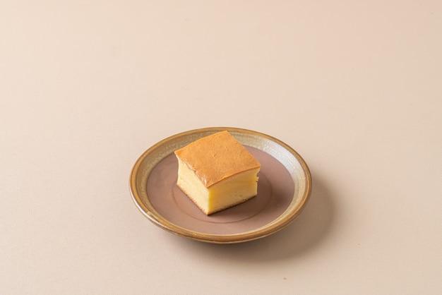 Bolo de esponja macio de algodão japonês caseiro