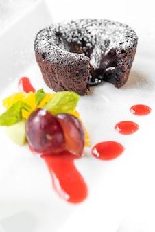Bolo de lava de chocolate