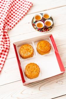 Bolo de lua chinesa para festival chinês de meados do outono
