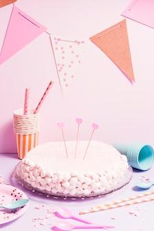 Bolo de marshmallow