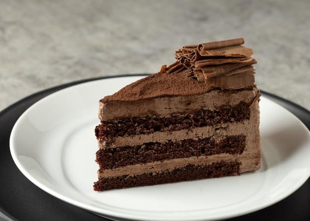 Bolo de mousse de chocolate, bolo de chocolate com recheio de creme
