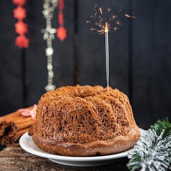 Bolo de natal doces bolos caseiros doce sobremesa cartão de natal bolo de ló de ano novo chocolate