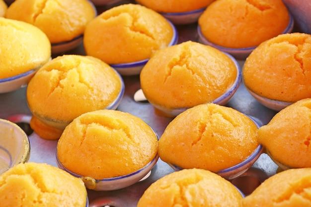 Bolo de palmeira toddy doce tailandês