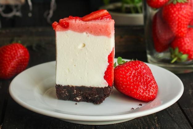 Bolo de queijo strawberrie doce mascarpone bolo