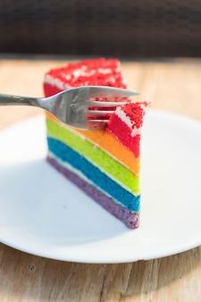 Bolo de torta deliciosa redonda redonda