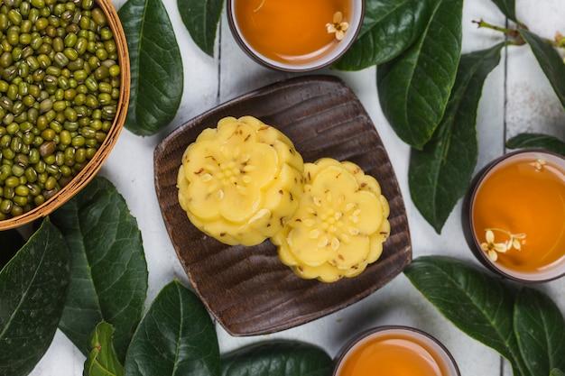 Bolo gourmet osmanthus tradicional, pastelaria chinesa