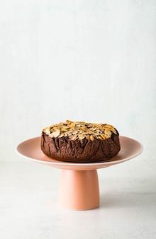 Bolo paleo de chocolate vegan de amêndoa