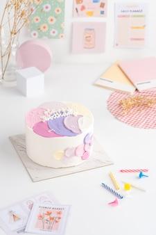 Bolo pequeno de bento de presente de aniversário com bolos coreanos