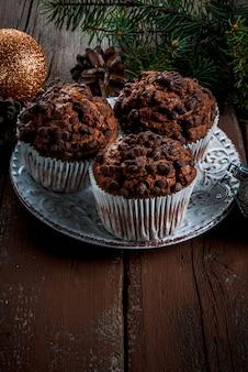Bolos de natal, bolos de chocolate