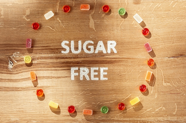 Bolos sem açúcar. alimentos dietéticos.
