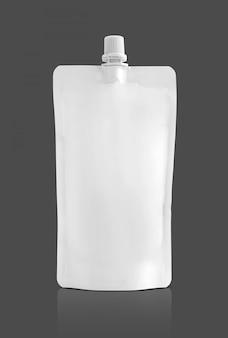 Bolsa branca para embalagem de produtos alimentícios