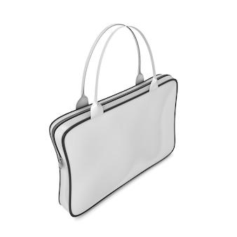 Bolsa com alças e zíper. capa para notebook. bolsa de laptop. ilustração 3d render.
