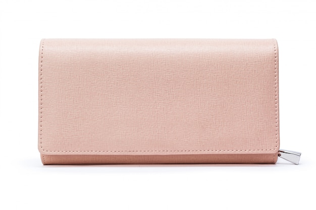 Bolsa de carteira de couro feminina isolada