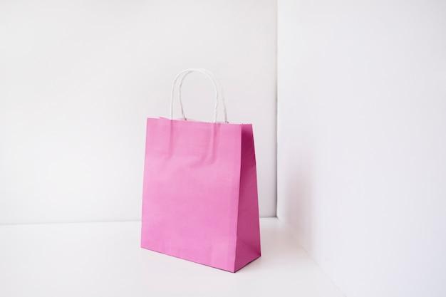 Bolsa de compras rosa