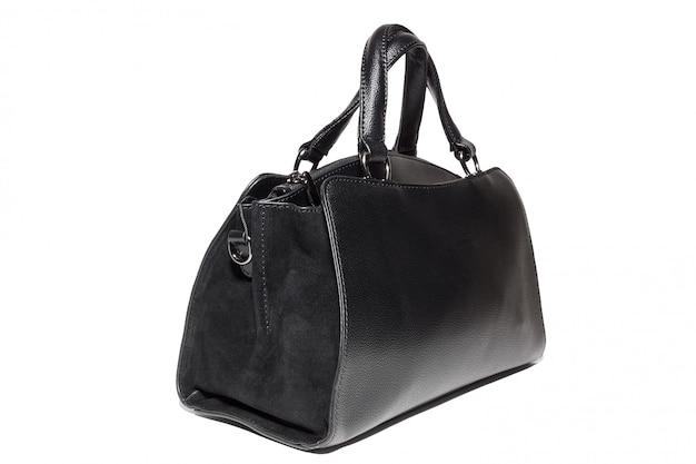 Bolsa de couro feminina em preto