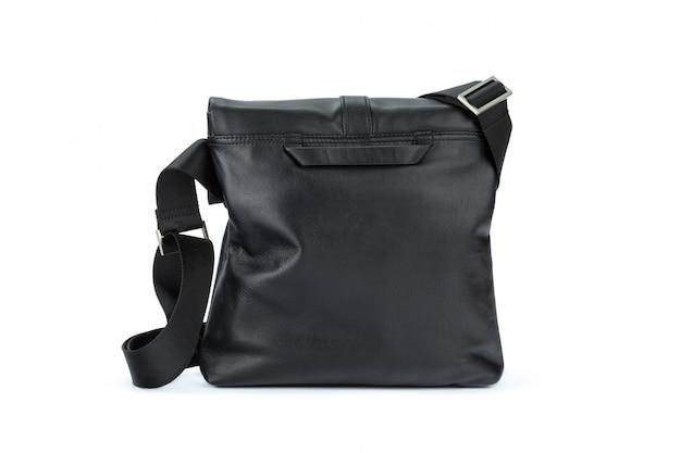 Bolsa de couro moda masculina isolada no branco
