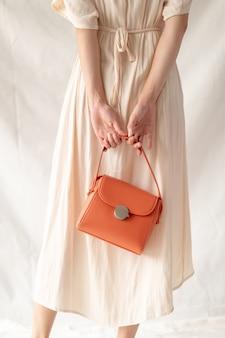 Bolsa de couro moda mulher