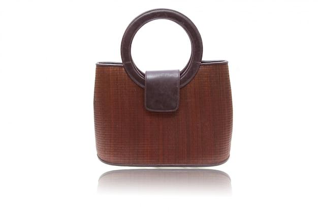 Bolsa de mulher de madeira